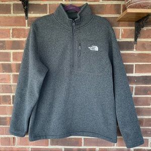 Like new The North Face grey pull over jacket